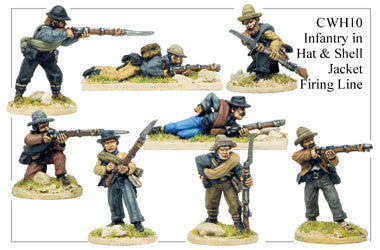CWH010 Infantry in Hats and Shell Jackets Firing Line