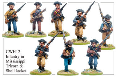 CWH012 Infantry in Mississippi Tricorn and Shell Jackets