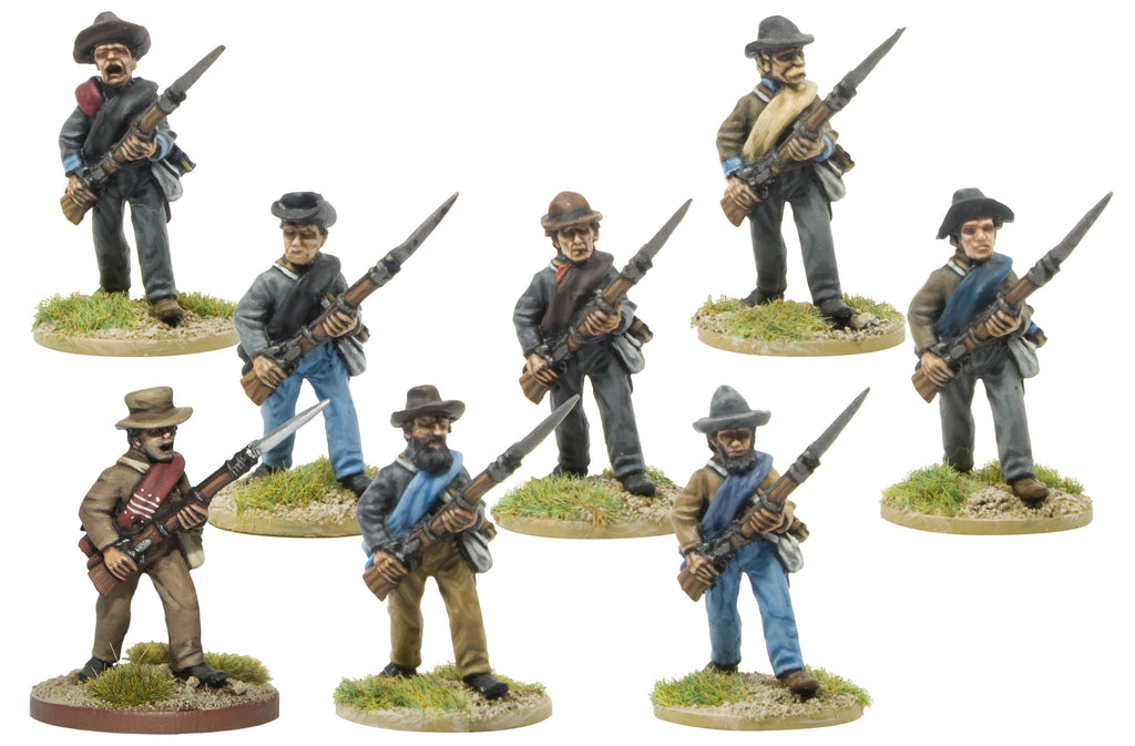 CWH001 Infantry in Hats and Shell Jackets Advancing