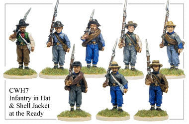 CWH007 Infantry in Hats and Shell Jackets at the Ready