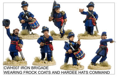CWHH007 Infantry in Hardee Hats and Frock Coats Command