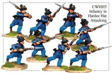 CWHH005 Infantry in Hardee Hats and Frock Coats Attacking