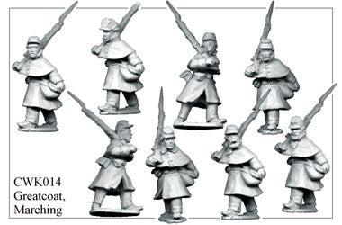 CWK014 Infantry in Kepi and Greatcoat Marching