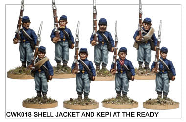 CWK018 Infantry in Kepi and Shell Jacket at the Ready
