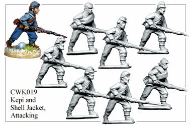 CWK019 Infantry in Kepi and Shell Jacket Attacking