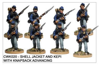 CWK020 Infantry in Kepi and Shell Jacket Advancing