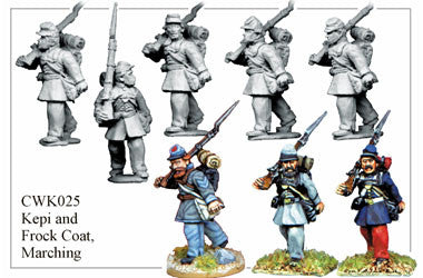 CWK025 Infantry in Kepi and Frock Coat Marching