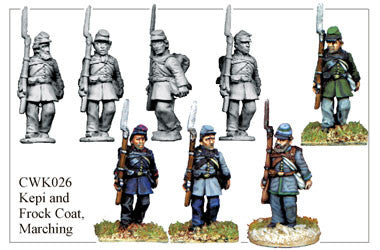 CWK026 Infantry in Kepi and Frock Coat Marching