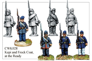 CWK028 Infantry in Kepi and Frock Coat at the Ready