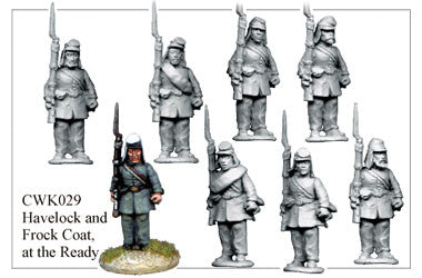 CWK029 Infantry in Havelock and Frock Coat at the Ready