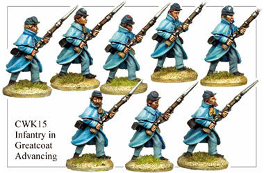 CWK015 Infantry in Kepi and Greatcoat Advancing