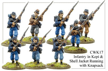 CWK017 Infantry in Kepi and Shell Jacket Running