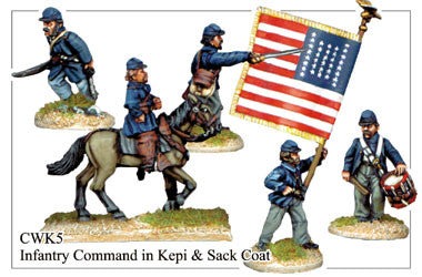 CWK005 Infantry in Kepi and Sack Coat Command