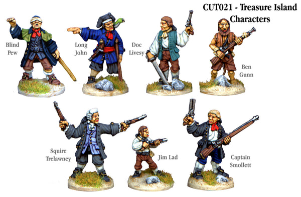CUT021 - Treasure Island Characters