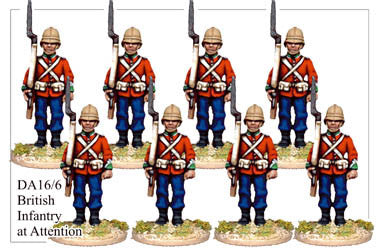 DA166 British Infantry at Attention