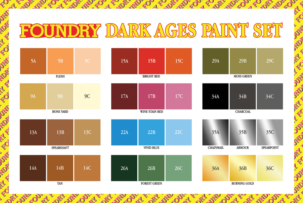 Dark Ages Paint Set - Vikings, Normans and Saxons