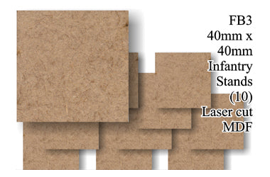FB003 - 40mm x 40mm Infantry MDF (10 bases)