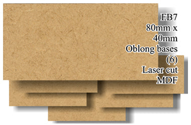 FB007 - 80mm x 40mm Oblong MDF (6 bases)