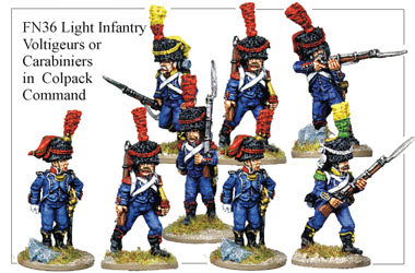 FN036 - Light Infantry Voltigeurs Or Carabiniers In Full Dress And Colpack