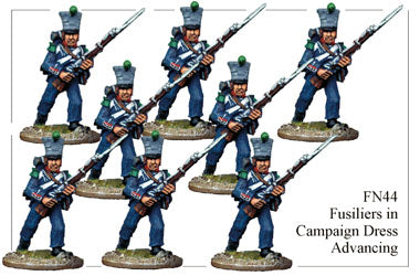 FN044 - Fusiliers In Campaign Dress Advancing