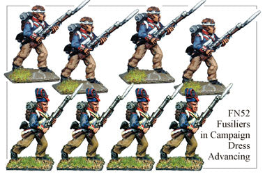 FN052 - Fusiliers In Campaign Dress Assorted Headgear Advancing