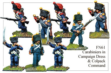 FN061 - Light Infantry Carabiniers In Campaign Dress And Colpacks