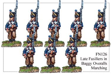 FN126 - Late Fusilier In Campaign Dress Marching
