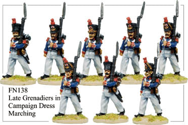 FN138 - Late Grenadiers In Campaign Dress Marching