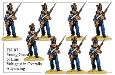 FN187 - Young Guard Infantry In Campaign Dress Advancing