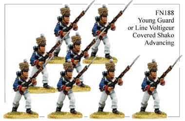 FN188 - Young Guard Infantry In Campaign Dress Advancing