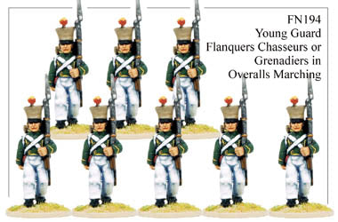 FN194 - Young Guard Flanquers Chasseurs Or Flanquers Grenadiers Marching