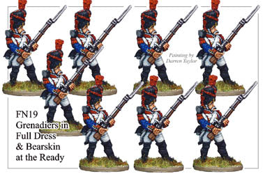 FN019 - Grenadiers In Full Dress And Bearskin Defending