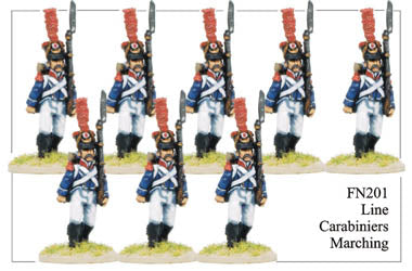 FN201 - Late Light Infantry Chasseurs Elite Company Carabineers Marching