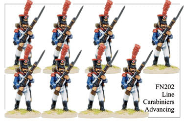FN202 - Late Light Infantry Chasseurs Elite Company Carabineers Advancing