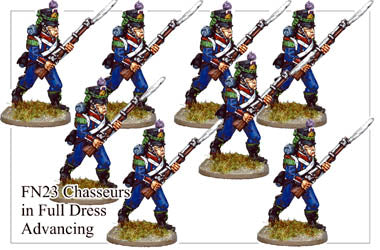 FN023 - Light Infantry Chasseurs In Full Dress Chasseurs Advancing