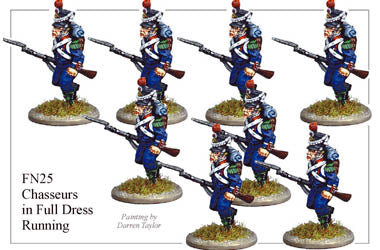 FN025 - Light Infantry Chasseurs In Full Dress Chasseurs Running