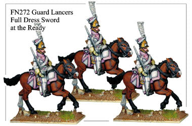 FN272 - Imperial Guard Lancers In Full Dress Sword Drawn