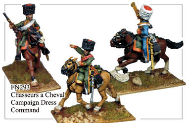 FN293 -  Imperial Guard Chasseurs A Cheval In Campaign Dress Command