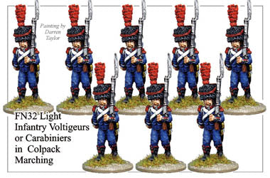 FN032 - Light Infantry Voltigeurs Or Carabiniers In Full Dress And Colpack Marching