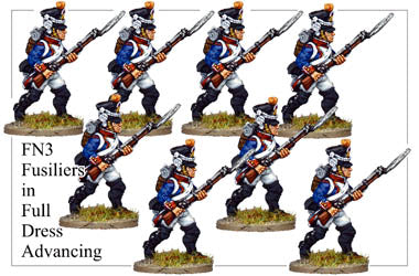 FN003 - Fusiliers Advancing In Full Dress