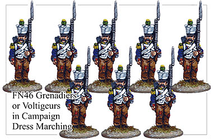 FN046 - Grenadier Voltigeur In Campaign Dress Marching