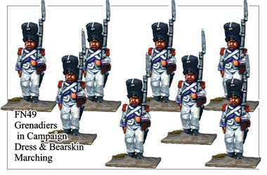 FN049 - Grenadiers In Campaign Dress And Bearskin Marching