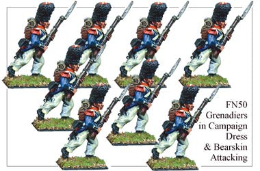 FN050 - Grenadiers In Campaign Dress And Bearskin Advancing