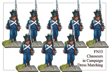 FN053 - Light Infantry Chasseurs In Campaign Dress Marching