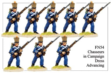 FN054 - Light Infantry Chasseurs Advancing