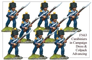 FN063 - Light Infantry Carabiniers In Campaign Dress And Colpacks Advancing