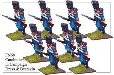 FN068 - Light Infantry Carabiniers In Campaign Dress And Bearskins Running