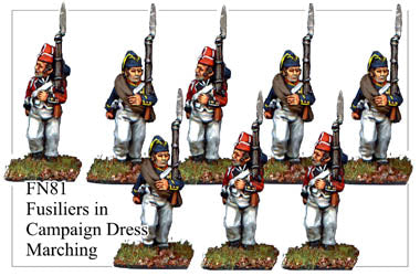 FN081 - Fusiliers Mixed Headgear Marching