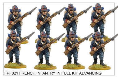 FPF021 French Infantry in Full Kit Advancing