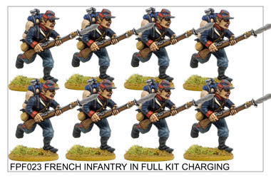 FPF023 French Infantry in Full Kit Charging